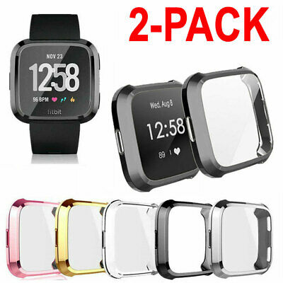$ CDN6.54 • Buy 2X TPU Silicone Case Watch Screen Protector For Fitbit Versa Smart Band Lite