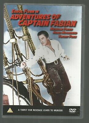 ADVENTURES OF CAPTAIN FABIAN - Errol Flynn - (1951) - UK REGION 2 DVD • 4.99£