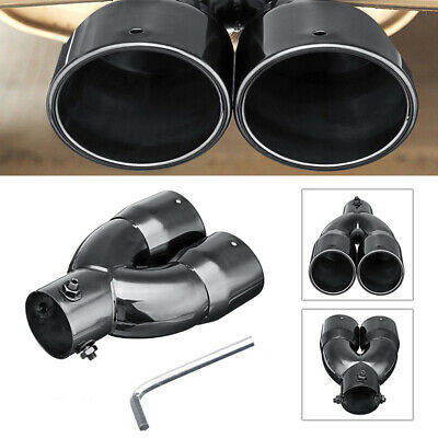 $ CDN25.91 • Buy 63mm 2.5'' Universal Car Inlet Dual Rear Muffler Exhaust Tip Tail Pipe Outlet US