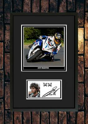 (#269) Guy Martin Superbikes  Tt Signed A4 Mounted Photo Or Framed @@@@@@@@@@@@@ • 6.99£