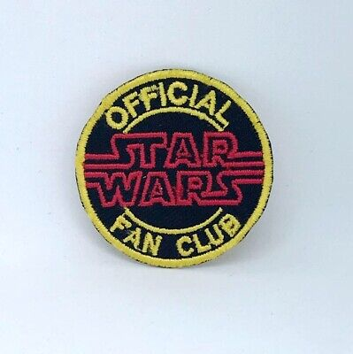 Star Wars Official Fan Club Badge Iron On Sew On Embroidered Patch • 1.95£