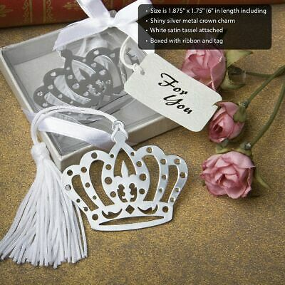 25-144  Royal Crown Design Bookmark - Fairy Tale Wedding Party Favors • 41.51£