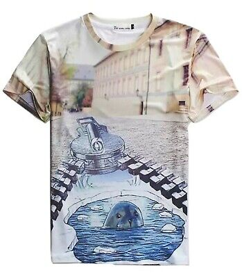 Seal In A City T-Shirt (3d Printed Ironic Animal T Shirt) • 15.99£