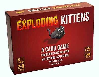 AU46.99 • Buy Exploding Kittens Card Game Family-friendly Party Fun Activity Kids Adult Game