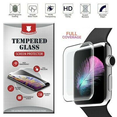 $ CDN4.59 • Buy For Apple Watch Series 5 4 3 2 1 Full Tempered Glass Screen Protector Cover Edge