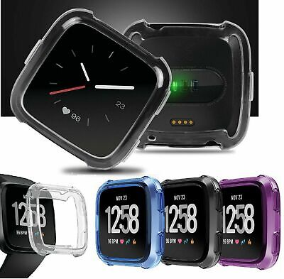 $ CDN5.27 • Buy TPU Silicone Cover Case Watch Casing Guard Protector For Fitbit Versa Smart Band
