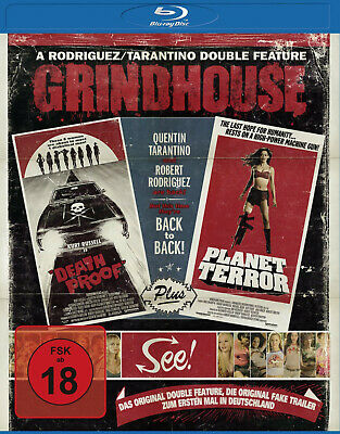 Grindhouse: Death Proof + Planet Terror | Quentin Tarantino | New/Sealed Blu-ray • 15.99£