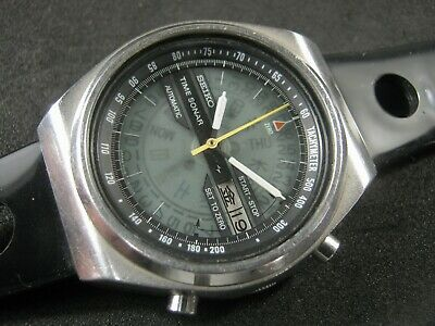 $ CDN854.49 • Buy SEIKO TIME SONAR 7015-6010 Chronograph Watch Vintage Japan Made RARE Collection