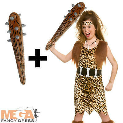 Cave Girl + Inflatable Club Kids Fancy Dress Stone Age Caveman Book Day Costume  • 11.99£