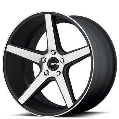 $917 • Buy 4ea 20  Staggered KMC Wheels KM685 District Satin Black Machined Rims(S11)