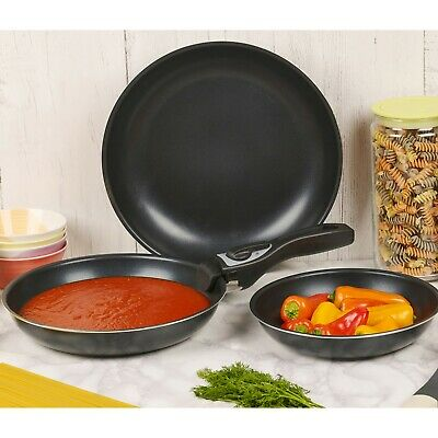 £21.99 • Buy 4 Piece Ceramic Cookware Frying Pan Set With Detachable Handle And Induction