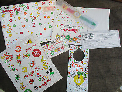 $25.99 • Buy VINTAGE 1990 M&Ms CANDY BIRTHDAY CLUB KIT COMPLETE W WATCH & MAILING ENVELOPE