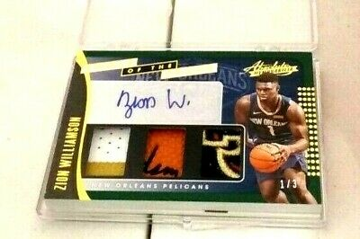 $2075 • Buy Zion Williamson 1/1 1 Of 1 Auto Rookie Autograph Game Used Jersey /3 2019 Panini