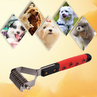 Professional Pet Grooming Undercoat Rake Comb Dematting Tool Dog Cat Brush UK • 4.69£