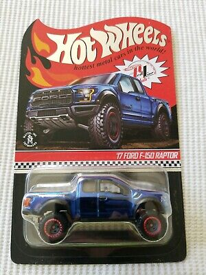 $38 • Buy 2018 Hot Wheels RLC Exclusive 17 FORD F-150 RAPTOR Blue EXCELLENT CARD