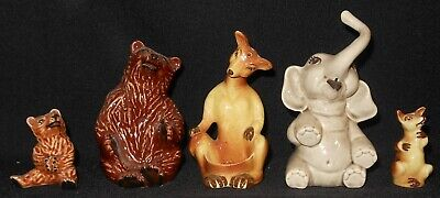 $9.99 • Buy Vintage Lot Ceramic Arts Studio Cas Hugger Sitter Shakers Bears Elephant Kangaro