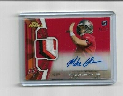 $ CDN0.99 • Buy Mike Glennon 2013 Topps Finest Buccaneers Rookie Patch Autograph Card 49/75