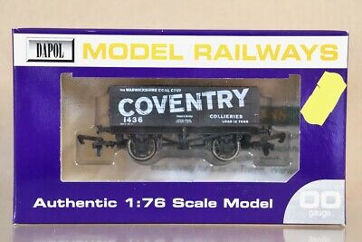 DAPOL WARWICKSHIRE COAL COVENTRY 7 PLANK WAGON 1436 LIMITED EDITION Nv • 24.50£