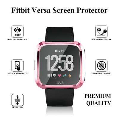 $ CDN7.02 • Buy Plated TPU Screen Protector Case Cover Bumper For Fitbit Versa/Special Edition
