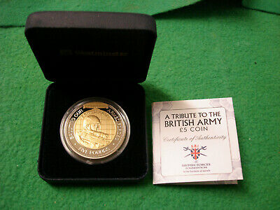 2012 Guernsey A Tribute To The British Army £5 Coin Inc COA • 14.99£