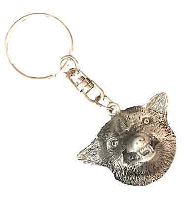 Wolf Handcrafted From English Pewter Key Ring Hin-KR0542 • 8.99£