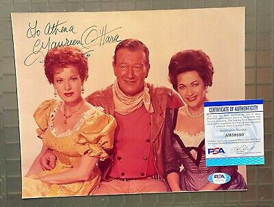 $20.50 • Buy Maureen O'Hara Signed 8x10 Photo Autographed AUTO W/ John Wayne PSA/DNA COA