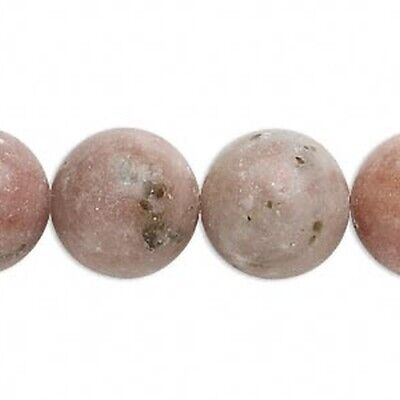 $13.75 • Buy Lot Of (3) 16  Inch Strands Natural Pink Lepidolite 16mm Round Gemstone Beads