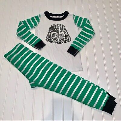 $7.99 • Buy Hanna Andersson Star Wars Striped Green Pajamas 110 Sz 5/6  BOYS