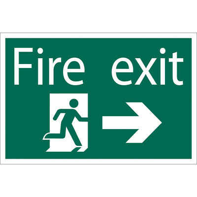 Draper Fire Exit Escape Route Arrow Right Self Adhesive Safety Sign Notice • 12.88£