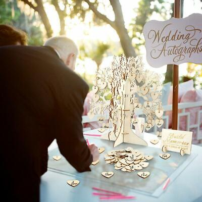 £21.61 • Buy Wedding Party Signing Card Signature Wishing Tree Guest Book Tree Wooden Love