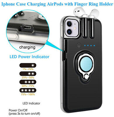 AU33.91 • Buy Case For IPhone 8 X XR 11 Pro Max Case Charging AirPods With Finger Ring Holder