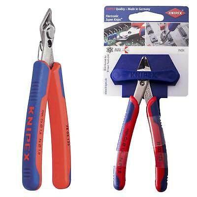Knipex Pro Electronics Nippers Diagonal Side Wire Cutters Super Knips 125mm SST • 34.24£