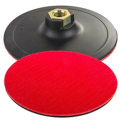 Rubber Backing Pad 125mm Hook & Loop For Angle Grinder Sander Polisher Discs M14 • 7.26£