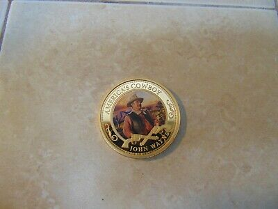$12.99 • Buy Challenge Coin Americas Cowboy John Wayne Legend Beautiful Coin 1907-1979