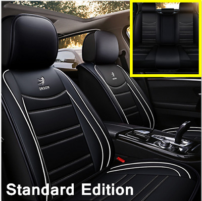 $ CDN125.48 • Buy Standard Edition Full PU Leather Seat Cover Cushions Protector Set For Car SUV