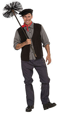 £24.99 • Buy Chimney Sweep Costume Mens Victorian Fancy Dress Edwardian Bert Poppins Outfit