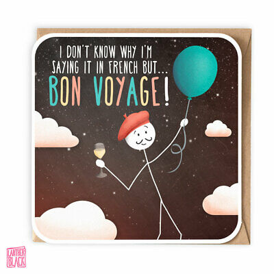 £3.50 • Buy Funny Bon Voyage Card, Goodbye Sorry You're Leaving Farewell Travelling Gap Year