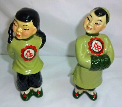 $19.99 • Buy Vintage Ceramic Arts Studio, WIS. Asain Hand Painted Figurines
