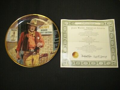 $24.99 • Buy John Wayne Franklin Mint American Legend Limited Collector Gold Trim Plate