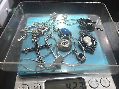 $ CDN13.88 • Buy Vintage Sterling Silver Lot Mixed Jewelry Scrap Or Wear 42.3 Grams