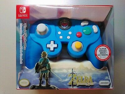 $24.99 • Buy PDP Nintendo Switch Fight Pad Pro Wired Controller Blue Legend Of Zelda Edition