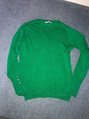 $15.50 • Buy NWOT Zara Basic Sweater Green With Gold Buttons Size Large