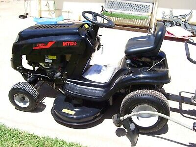 AU2450 • Buy Ride On Mower Mtd 420-38 15 Hrs Use  + Sweeper + Trailer + More See Add