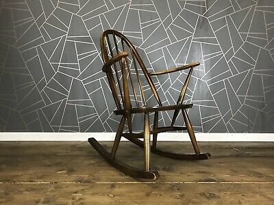 Great Ercol Rocking Chair - Vintage Windsor Mid Century Armchair Chair 60s 70s • 155£