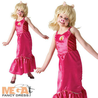 Girls Miss Piggy The Muppets Fancy Dress Kids TV Character Childs Costume Outfit • 17.99£