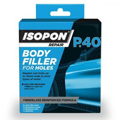 Isopon P40/PBX 0.1L P40 Body Filler For Holes 100ml Fibreglass Metal Repair • 14.99£