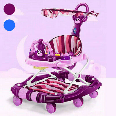 4 In 1 Baby Walker First Steps Push Along Bouncer Activity Kids Cute Ride On Toy • 40.99£