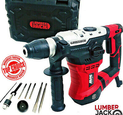 View Details Lumberjack SDS Impact Rotary Hammer Drill 240V 1050W With Chisel Bit Set & Case • 69.95£