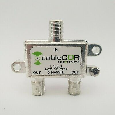 AU1.99 • Buy Coax Splitter 2 Way 3.5db 5-1000 Mhz For NBN, FOXTEL,TV AERIAL