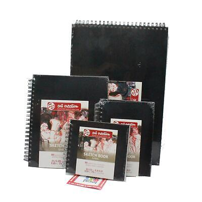 Talens Sketch Book Hard Back Drawing Paper Pad 80 Sheets 140gsm Assorted Sizes • 22.10£